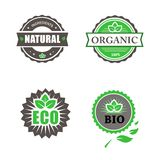 Eco And Bio Labels Collection Stock Photos