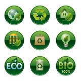 Eco and bio buttons Royalty Free Stock Image