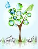 Eco, bio, verdes y reciclan símbolos Imágenes de archivo libres de regalías