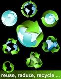 Eco, bio, verts et réutilisent des symboles Photographie stock libre de droits
