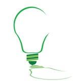 Eco-Birnenillustration in der grünen Farbe Lizenzfreies Stockbild