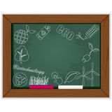 Eco blackboard frame Stock Photos