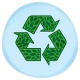 Eco Blatt-Symbol Stockfoto