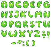 Eco bubble alphabet Stock Photo