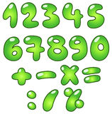 Eco bubble numbers. Green bubble-shaped eco numbers set Vector Illustration