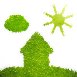 Eco building and lifestyle concept. Illustration Royalty Free Stock Images