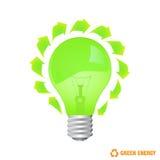 Eco bulb. Abstract eco bulb design Royalty Free Stock Photo