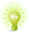 Eco bulb Royalty Free Stock Image