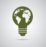 Eco bulb design Royalty Free Stock Photos