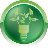 Eco bulb icon Royalty Free Stock Photo