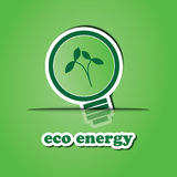 Eco Bulb Icon Stock Image