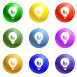Eco bulb icons set vector vector illustration