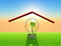 Eco bulb Royalty Free Stock Image