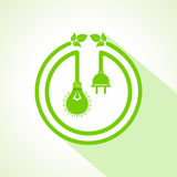 Eco bulb with and leaf Royalty Free Stock Photo