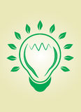 Eco bulb light Stock Images
