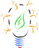 Eco bulb nature Royalty Free Stock Images