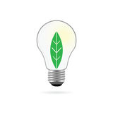 Eco bulb with plant vector Stock Photo
