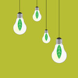 Eco bulb vector on green Stock Images