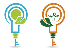 Eco bulbs. Cartoon elements, illustration stock illustration