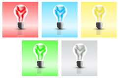 Eco bulbs Stock Images