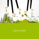 Eco Business Background Design, Royalty Free Stock Photo