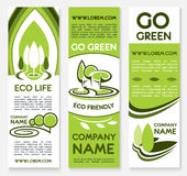 Eco business banner template for ecology design Stock Image