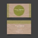 Eco business card vector template Royalty Free Stock Photos