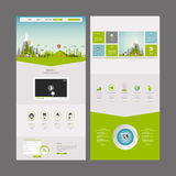 Eco Business One page website design template Stock Photos