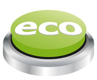 Eco button Royalty Free Stock Images