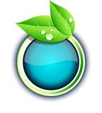 Eco button. Royalty Free Stock Image
