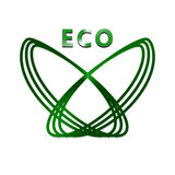 Eco button royalty free stock photography