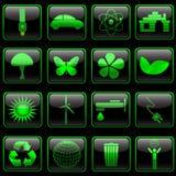 Eco button set stock illustration