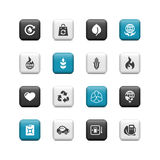 Eco buttons. Ecology and environmental buttons. The icons work greit on any bacground Royalty Free Stock Photos