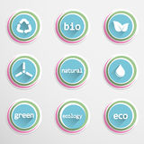 Eco buttons Stock Image
