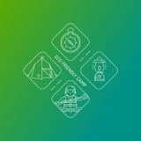 Eco camp logo vector illustration