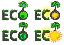 Eco caption logo Stock Photos