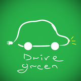 Eco car. Concept on green background Royalty Free Stock Photography