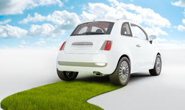 Eco Car. Car with alternative and renewable power for a clean ambient Royalty Free Stock Photography