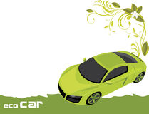 Eco car. Banner for design Stock Image
