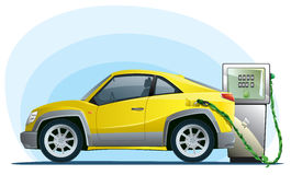 Eco car on the bio fuel Stock Photo