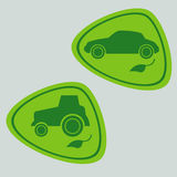 Eco Car with bio fuel Stock Photography