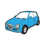 Eco car cartoon drawing Royalty Free Stock Photo