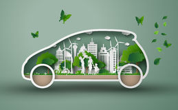Eco car concept Royalty Free Stock Photography