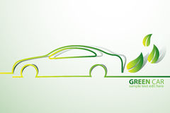 Eco car Royalty Free Stock Images