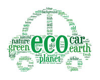 Eco car concept word clouds Royalty Free Stock Images
