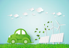 Eco car stock illustration