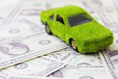 Eco car icon. Save money concept Royalty Free Stock Photos