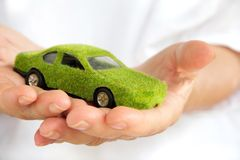 Eco car icon Stock Images