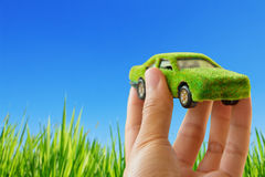 Eco car icon concept Stock Image