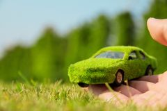 Eco car icon concept Royalty Free Stock Photos